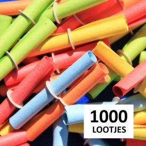 Rollootjes / lootjes / loten - bonte mix - 1000 stuks