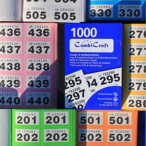 Dubbelnummers - lootjes - 12000 stuks