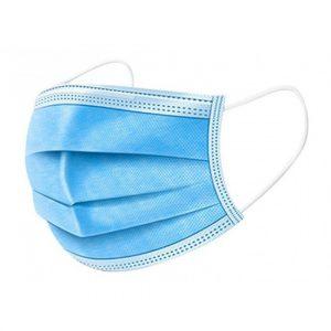2x beschermende mondkapjes blauw
