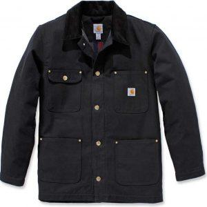 Carhartt Firm Duck Chore Coat-Black-XXL