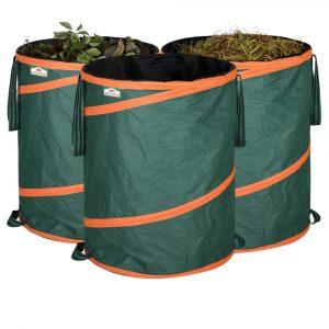 Gardebruk Popup tuinzak Set van 3 groene 85 liter per stuk