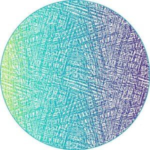 Strandlaken Isento - Multi Blauw - 180x180cm - Rond
