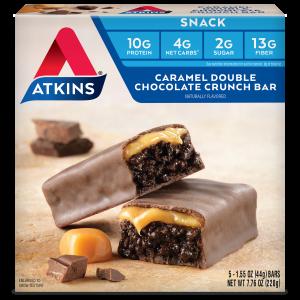 Atkins USA Snack Caramel Double Chocolate Crunch