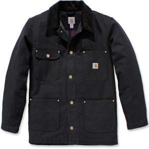 Carhartt Firm Duck Chore Coat Jas, zwart, afmeting S