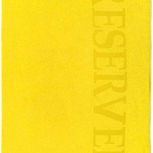 Heerlijk Zachte Velours Strandlaken XL Geel | 100x180 | Droogt Snel | Trendy En Luxe