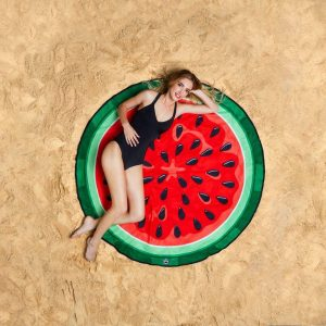 Watermeloen Strandlaken - Beach Blanket Watermelon - Big Mouth badlaken - ø 1,5 meter