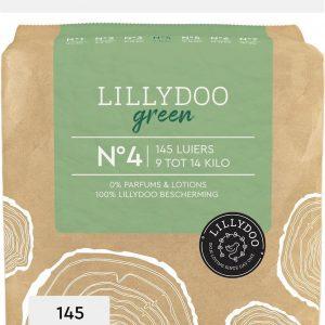 LILLYDOO green luiers - Maat 4 (9-14 kg) - 145 Stuks - Maandbox
