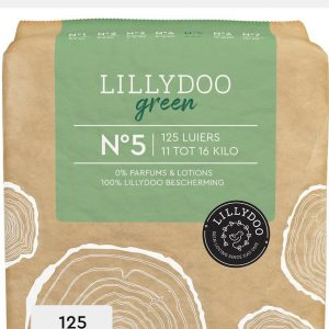 LILLYDOO green luiers - Maat 5 (11-16 kg) - 125 Stuks - Maandbox
