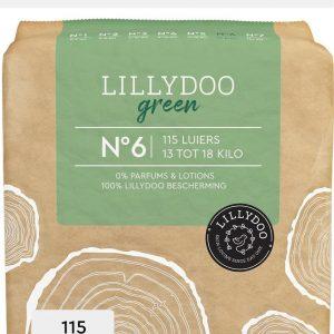 LILLYDOO green luiers - Maat 6 (13-18 kg) - 115 Stuks - Maandbox