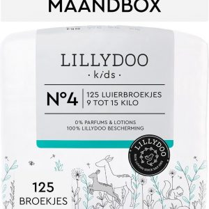 LILLYDOO luierbroekjes - Maat 4 (9-15 kg) - 125 Stuks - Maandbox