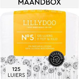 LILLYDOO luiers - Maat 5 (11-16 kg) - 125 Stuks - Maandbox