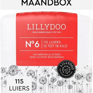 LILLYDOO luiers - Maat 6 (13-18 kg) - 115 Stuks - Maandbox
