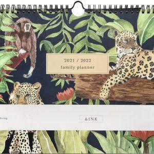 &INK 16 Maanden Familieplanner 2021/2022 - Jungle