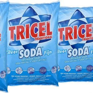 Tricel soda traditional - soda kristallen reiniger - Reinigt, ontstopt en ontvet 4 x 1kg
