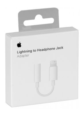Originele Apple Lightning naar 3,5mm Jack adapter Wit - Shop
