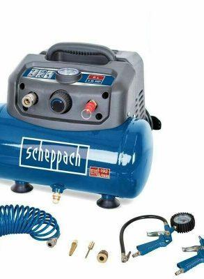 Scheppach Compressor HC06 inclusief toebehoren - Olievrij   1200W   6L